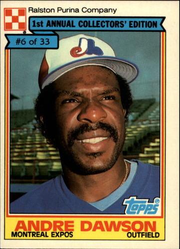 Photo of 1984 Ralston Purina #6 Andre Dawson