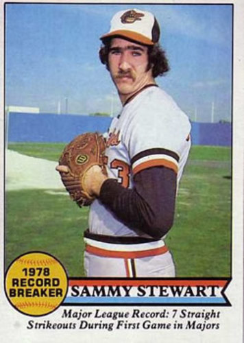 Photo of 1979 Topps #206 Sammy Stewart RB