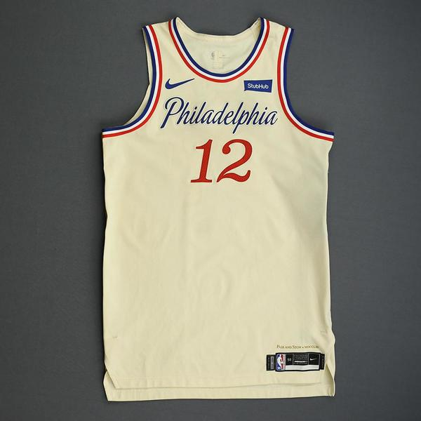 Image of Tobias Harris - Philadelphia 76ers - Christmas Day' 19 - Game-Worn City Edition Jersey - Scored 22 Points