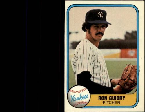 Photo of 1981 Fleer #88 Ron Guidry