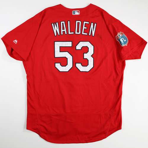 Photo of 2016 Spring Training - Spring Training Game Used Jersey - Jordan Walden (Cardinals)- Size- 52