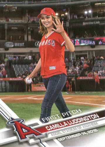 Photo of 2017 Topps First Pitch #FP37 Camilla Luddington