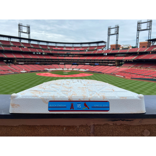 Photo of Cardinals Authentics: Game Used 2nd Base from Cardinals vs. Angels Innings 1-3