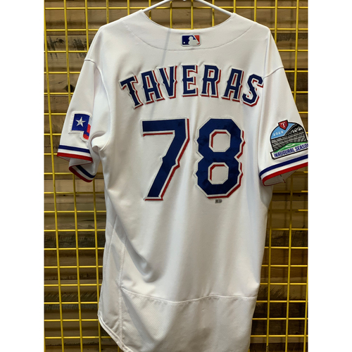 Photo of Leody Taveras Team-Issued White Jersey