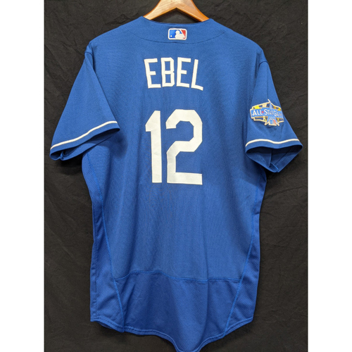 Photo of Dino Ebel Team-Issued 2020 Spring Training Jersey with 2020 All Star Patch