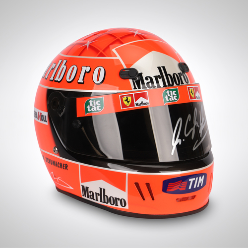 Photo of Michael Schumacher 2000 Signed Replica Helmet