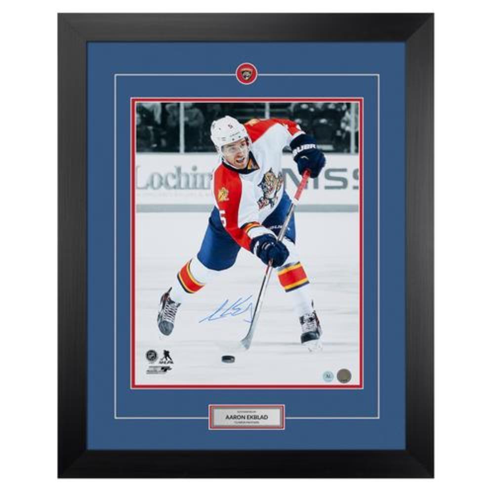 Aaron Ekblad Florida Panthers Autographed Hockey 26x32 Frame