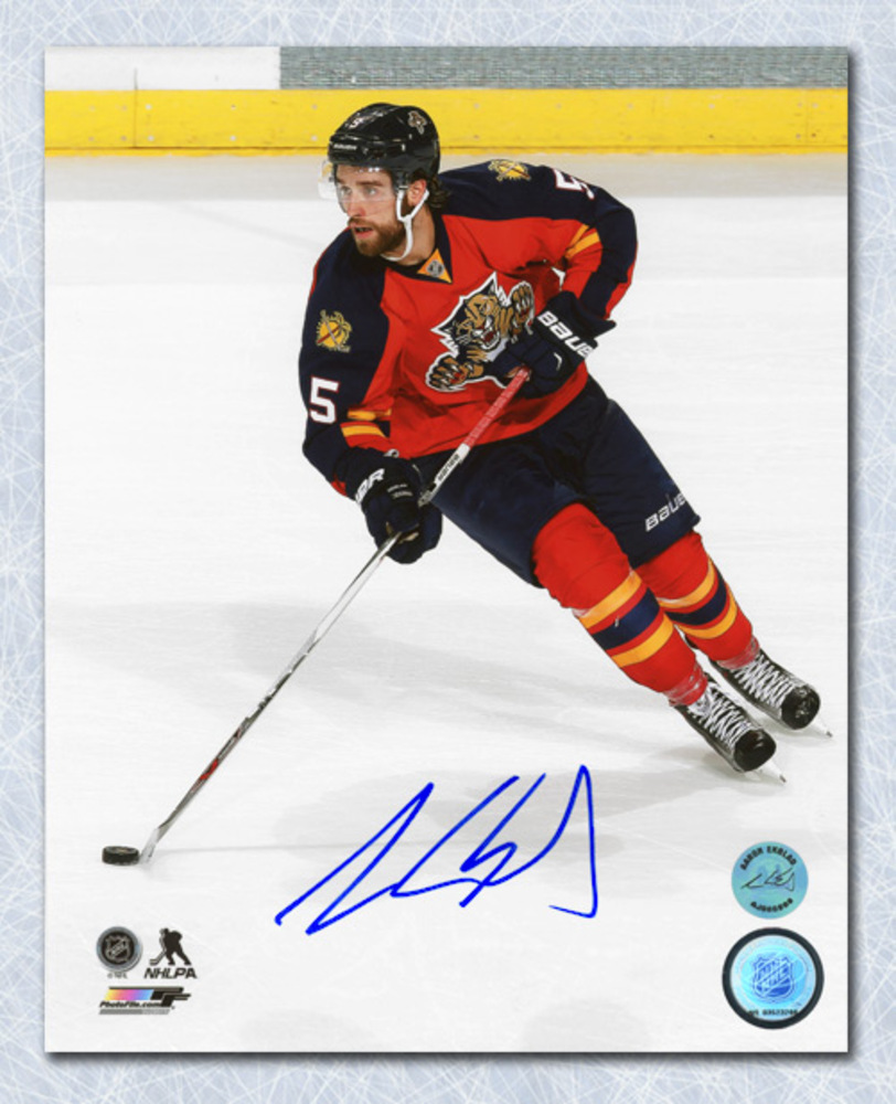 Aaron Ekblad Florida Panthers Autographed Game Action Hockey 16x20 Photo
