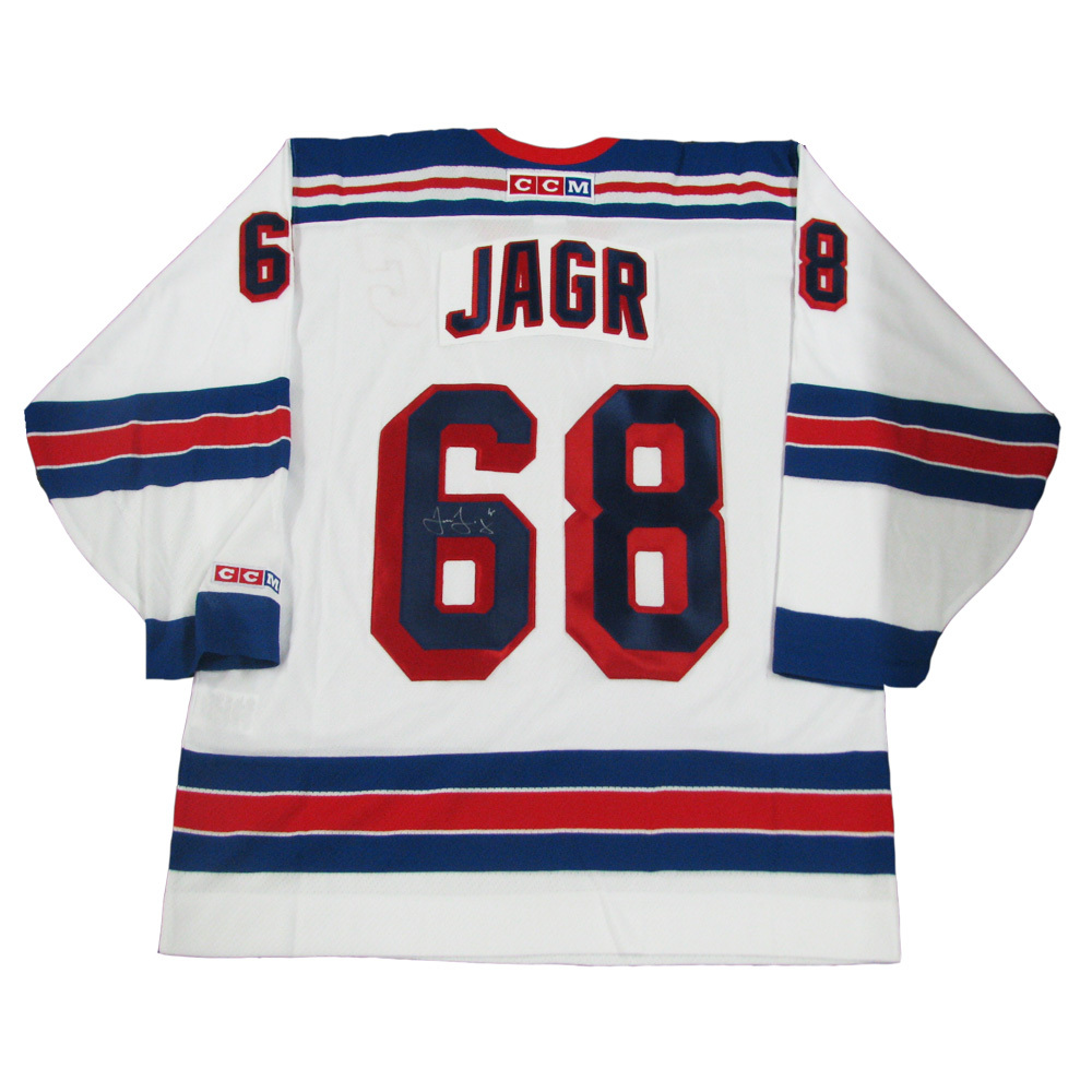 new arrival eb962 47f7a JAROMIR JAGR Signed New York Rangers White CCM Jersey with ...