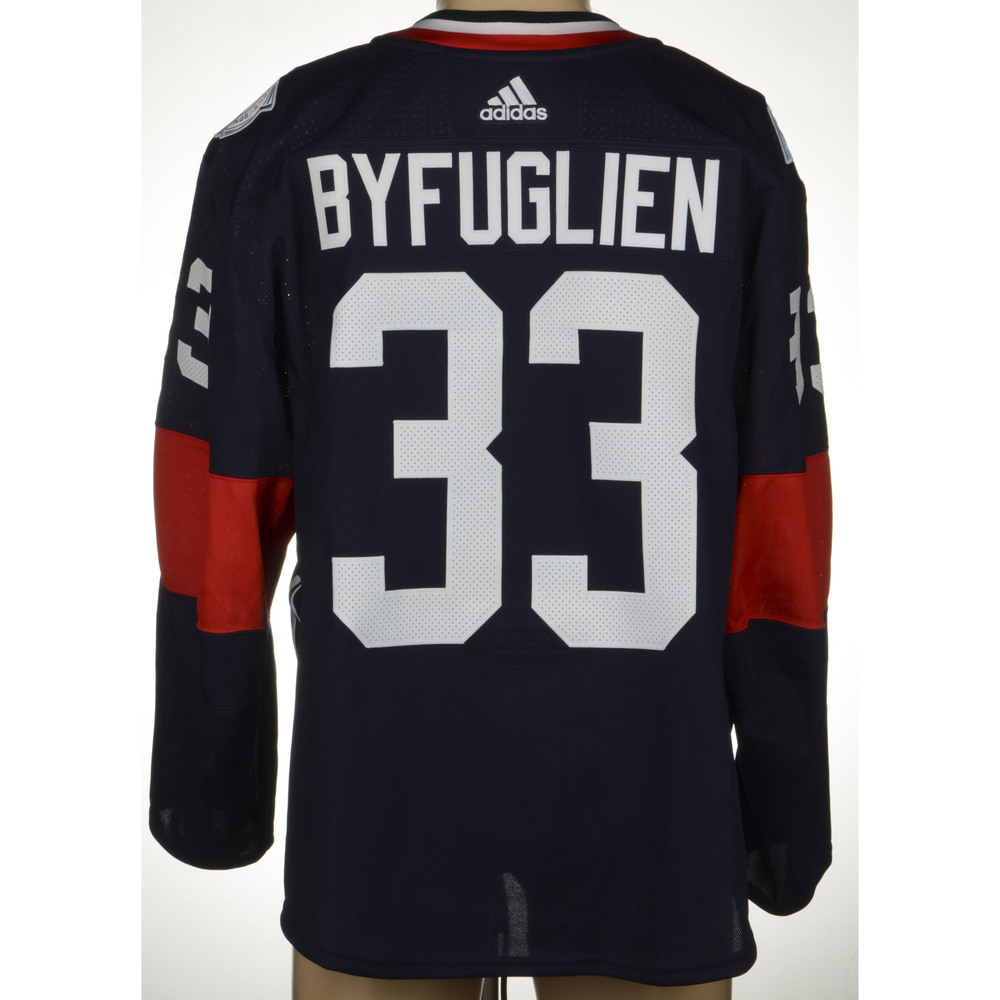 half off e1395 be2c4 Dustin Byfuglien Winnipeg Jets Game-Worn World Cup of Hockey ...