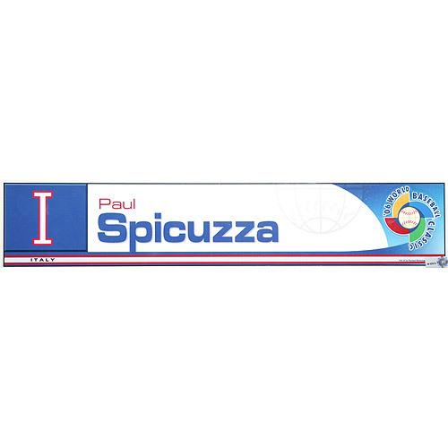 Photo of 2006 Inaugural World Baseball Classic: Paul Spicuzza Locker Tag (ITA) Game-Used Locker Name Plate