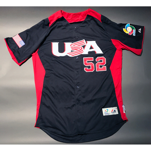 2013 World Baseball Classic Jersey - USA Jersey, Vinnie Pestano #52