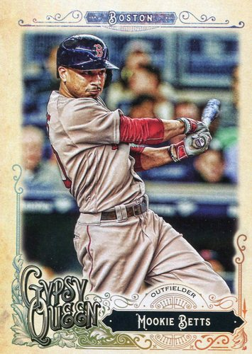 Photo of 2017 Topps Gypsy Queen #100A Mookie Betts