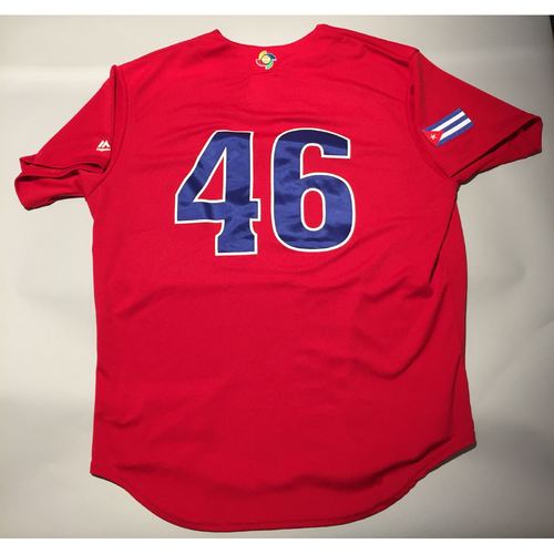 2017 WBC: Cuba Game-Used Batting Practice Jersey, #46