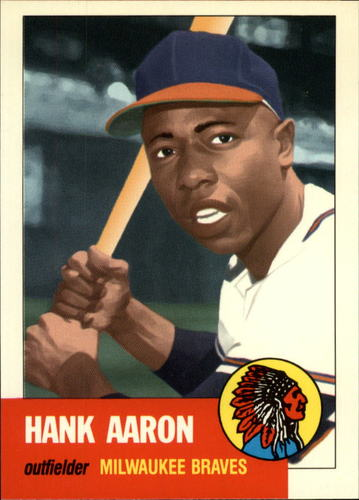 Photo of 1991 Topps Archives 1953 #317 Hank Aaron