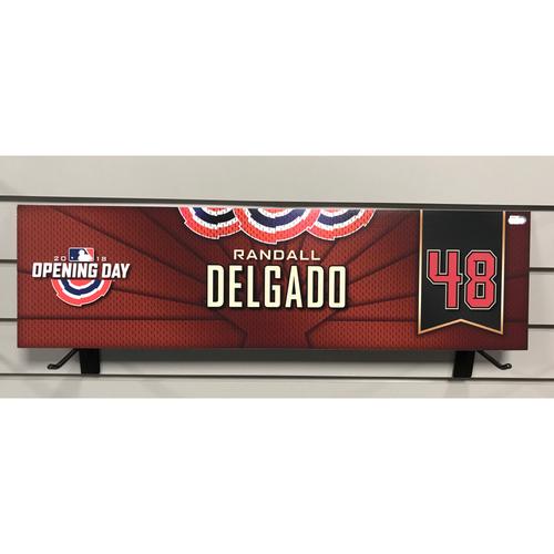 Photo of 2018 Randall Delgado Opening Day Nameplate