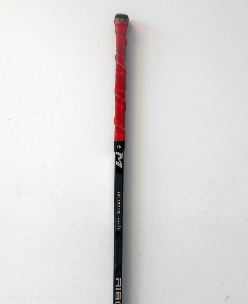 13 Nico Hischier Game Used Stick - Autographed - New Jersey Devils ... b53ef7156be