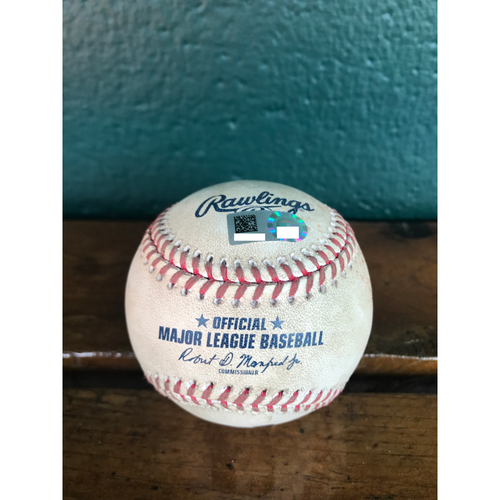 Photo of Cardinals Authentics: Game-Used Baseball Pitched by John Gant to Edwin Encarnacion *Ball*  *10,000 Win*