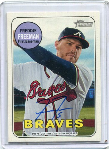 Photo of 2018 Topps Heritage Real One Autographs #ROAFF Freddie Freeman -- 2018 All-Star