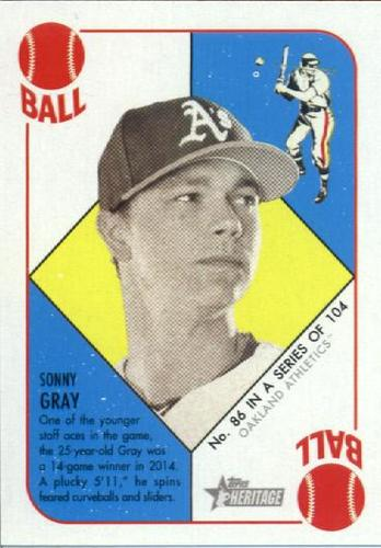 Photo of 2015 Topps Heritage '51 Collection #86 Sonny Gray