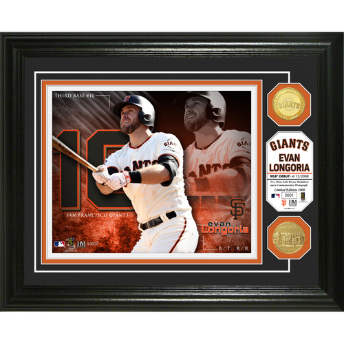 Photo of Serial #1! Evan Longoria Bronze Coin Photo Mint