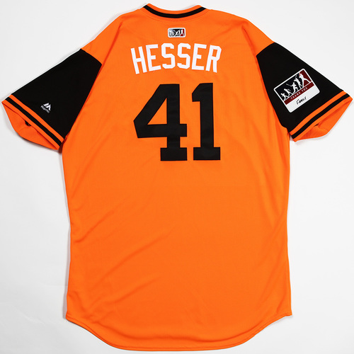 "Photo of David ""Hesser"" Hess Baltimore Orioles Game-Used 2018 Players' Weekend Jersey"