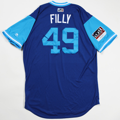 "Photo of Heath ""Filly"" Fillmyer Kansas City Royals Game-Used Jersey 2018 Players' Weekend Jersey"
