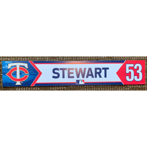 Photo of 2018 Game-Used Kohl Stewart Minnesota Twins Lockertag