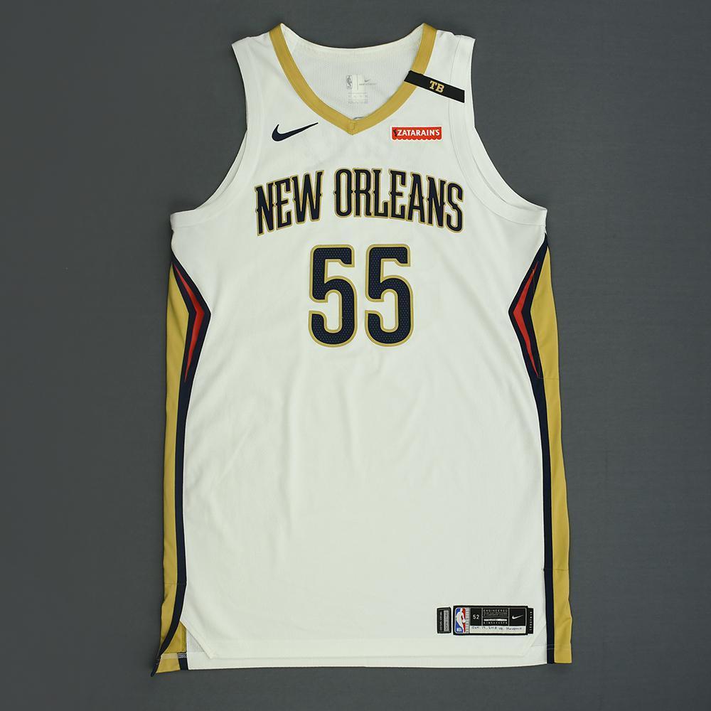 E'Twaun Moore - New Orleans Pelicans - Kia NBA Tip-Off 2018 - Game-Worn Association Edition Jersey