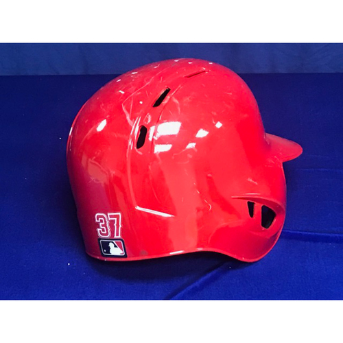 Photo of Francisco Arcia Game Used Record Setting 10 RBI Helmet