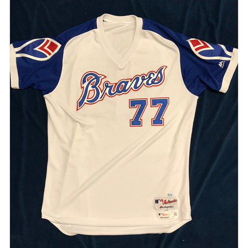 Alex Jackson (Team-Issued or Game-Used) 2019 Atlanta Braves Hank Aaron Weekend 1974 Throwback Jersey