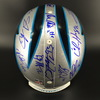 Panthers - Multi Signed Proline Helmet with 16 Signatures including Cam Newton, D.J. Moore, Ron Rivera, Luke Kuechly, Chris Hogan, Christian McCaffrey, Will Grier, Kawann Short, Greg Olson