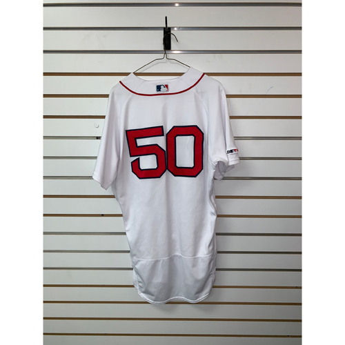 Photo of Mookie Betts Game Used July 18, 2019 Home Jersey - Home Run, 14th of the season