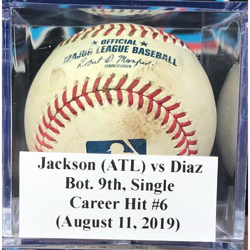 Photo of Game-Used Baseball: Isan Diaz, Bot. 9th, Single - Career Hit #6 (August 11, 2019)