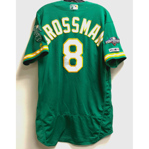 Photo of Robbie Grossman Game-Used 2019 A.L. Wild Card Jersey w/ Postseason Patch