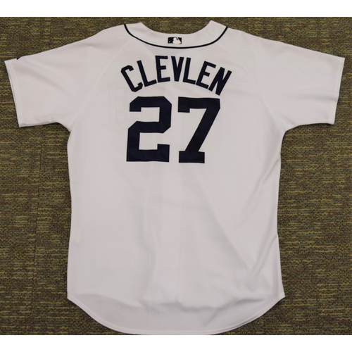 Photo of Brent Clevlen Game Worn Detroit Tigers #27 Home Jersey (NOT MLB AUTHENTICATED)