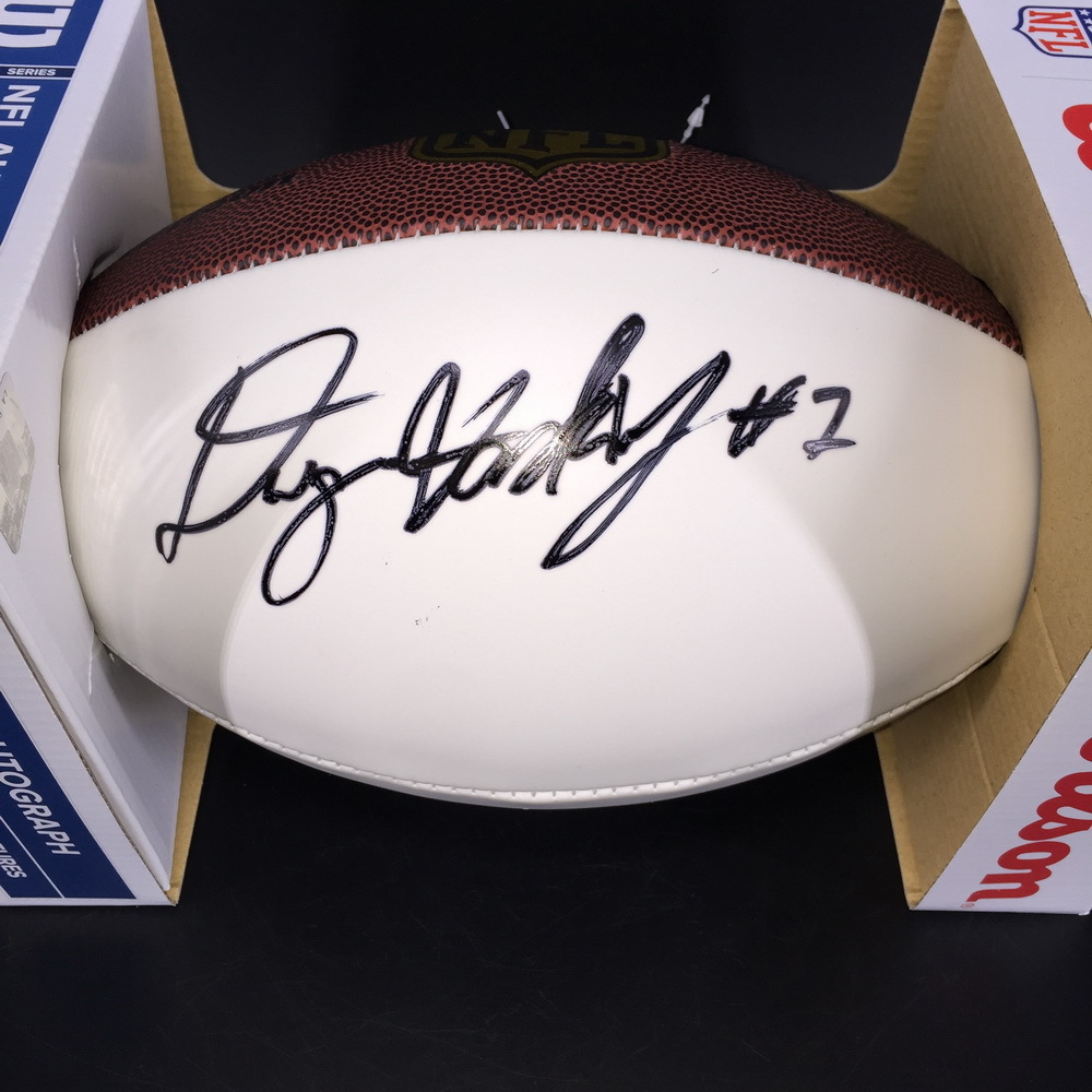 NFL - Redskins Dwayne Haskins Signed Panel Ball