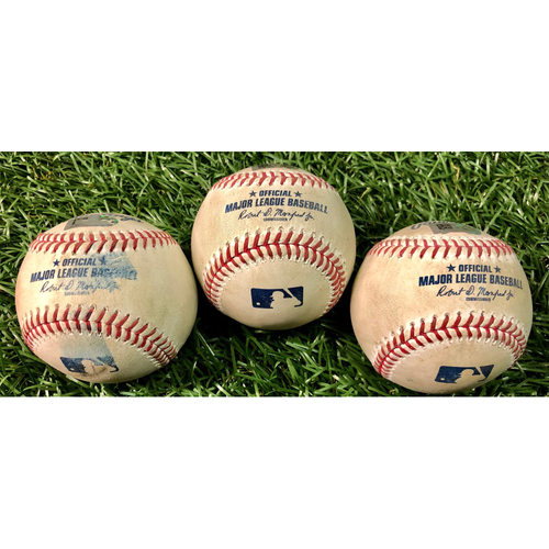 Photo of Game Used Baseball Package: Kevin Kiermaier, Ji-Man Choi & Willy Adames - August 26, 2020 v BAL