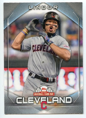 Photo of 2020 Topps National Baseball Card Day #9 Francisco Lindor