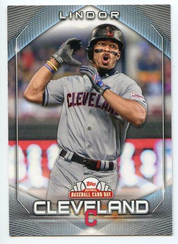 Photo of 2020 Topps National Baseball Card Day #9 Francisco Lindor