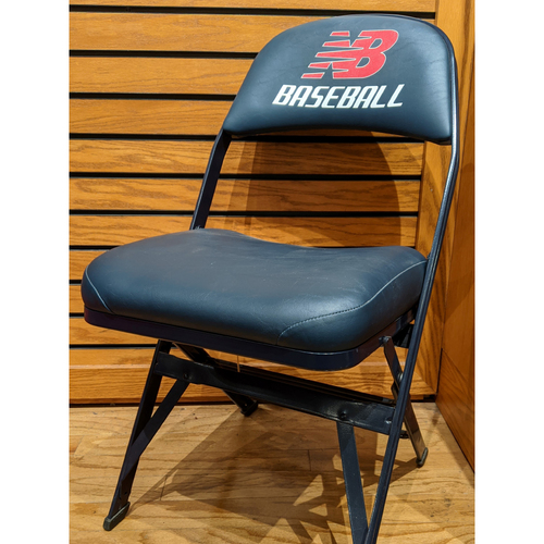 Photo of Fenway Park Visitor's Clubhouse Mike Trout Game Used Locker Room Chair