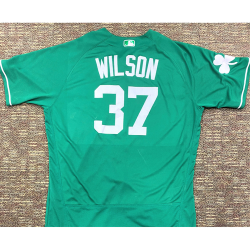 Photo of Bobby Wilson #37 Detroit Tigers Game-Used 2019 St. Patrick's Day Jersey (MLB AUTHENTICATED)