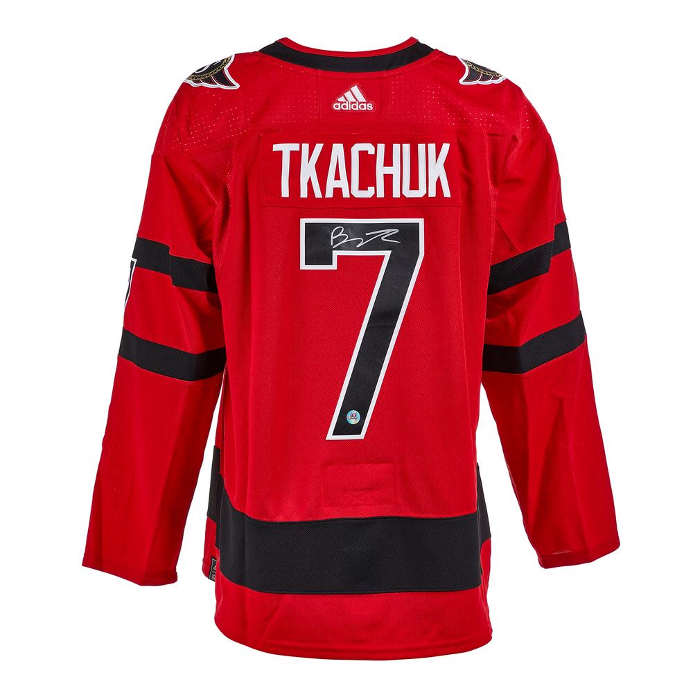 Brady Tkachuk Ottawa Senators Signed Reverse Retro Adidas Jersey