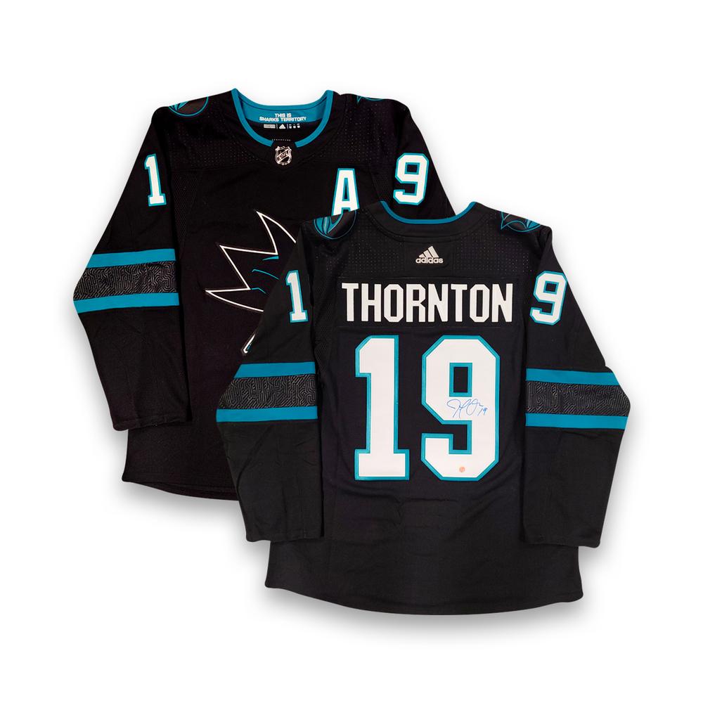 Joe Thornton Signed Jersey Sharks Pro Black 2017-2021 Adidas