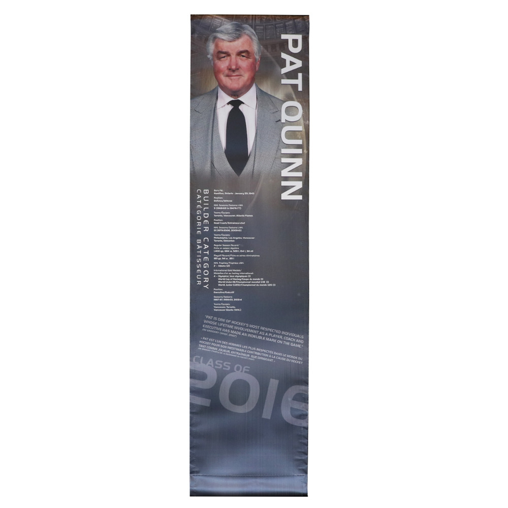 Pat Quinn Hockey Hall of Fame Class of 2016 Showcase Banner