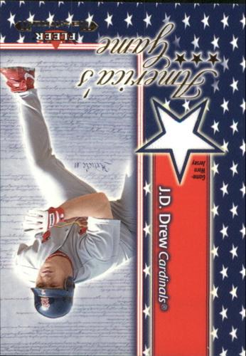 Photo of 2002 Fleer Maximum Americas Game Jersey #5 J.D. Drew