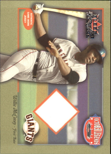 Photo of 2002 Fleer Fall Classics October Legends Game Used #WM Willie McCovey Jsy SP/150