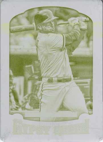 Photo of 2014 Topps Gypsy Queen Printing Plates Yellow #259 Martin Prado