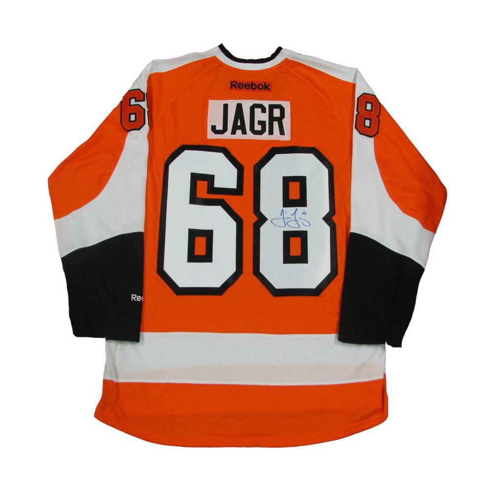 47cf7d0e3 JAROMIR JAGR Signed Philadelphia Flyers Orange Reebok Jersey - NHL ...