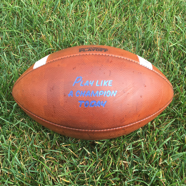 Photo of Notre Dame Game-Used Football vs. Boston College 9/16/17